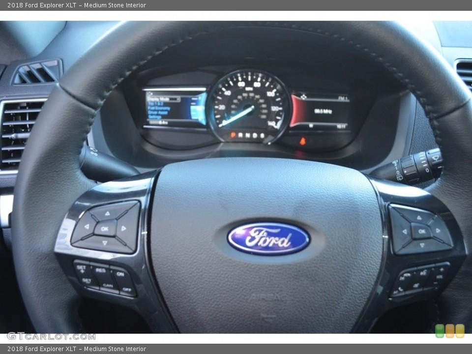 Medium Stone Interior Steering Wheel for the 2018 Ford Explorer XLT #124386388