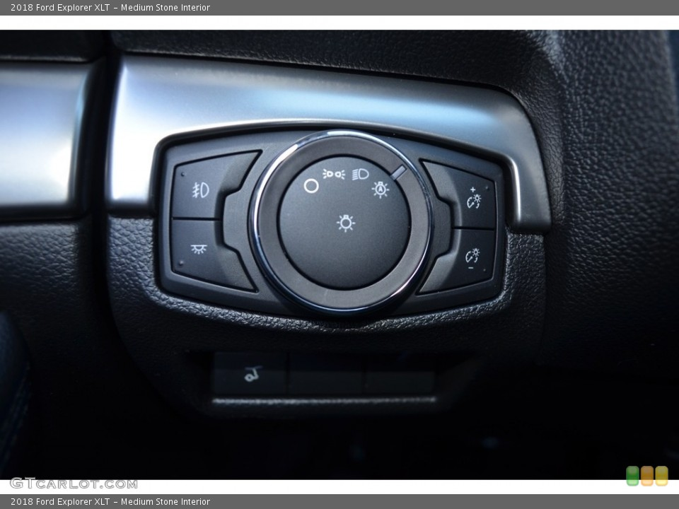 Medium Stone Interior Controls for the 2018 Ford Explorer XLT #124386403