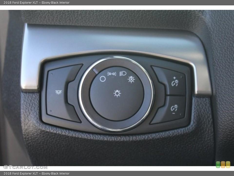 Ebony Black Interior Controls for the 2018 Ford Explorer XLT #124394496