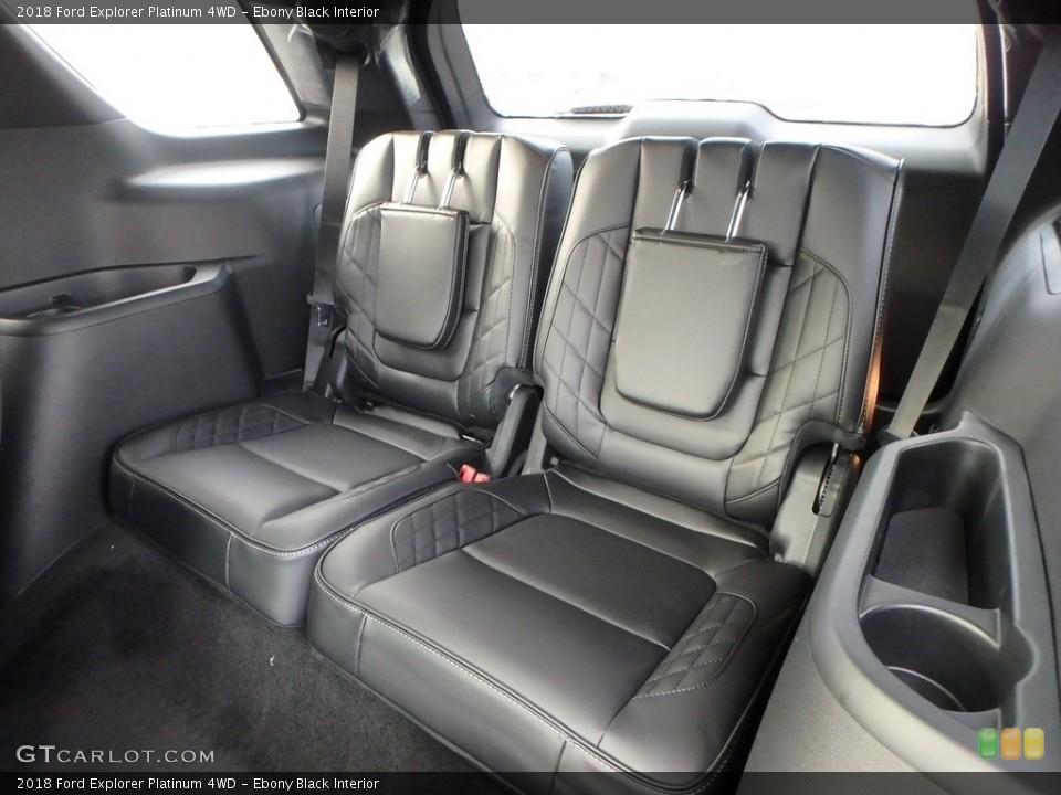 Ebony Black Interior Rear Seat for the 2018 Ford Explorer Platinum 4WD #124463871