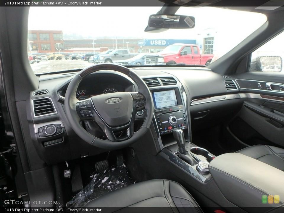 Ebony Black Interior Photo for the 2018 Ford Explorer Platinum 4WD #124463919