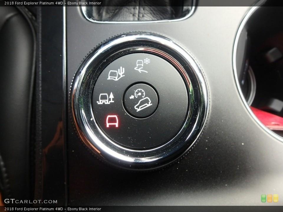 Ebony Black Interior Controls for the 2018 Ford Explorer Platinum 4WD #124464009