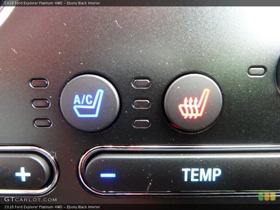 Ebony Black Interior Controls for the 2018 Ford Explorer Platinum 4WD #124464042