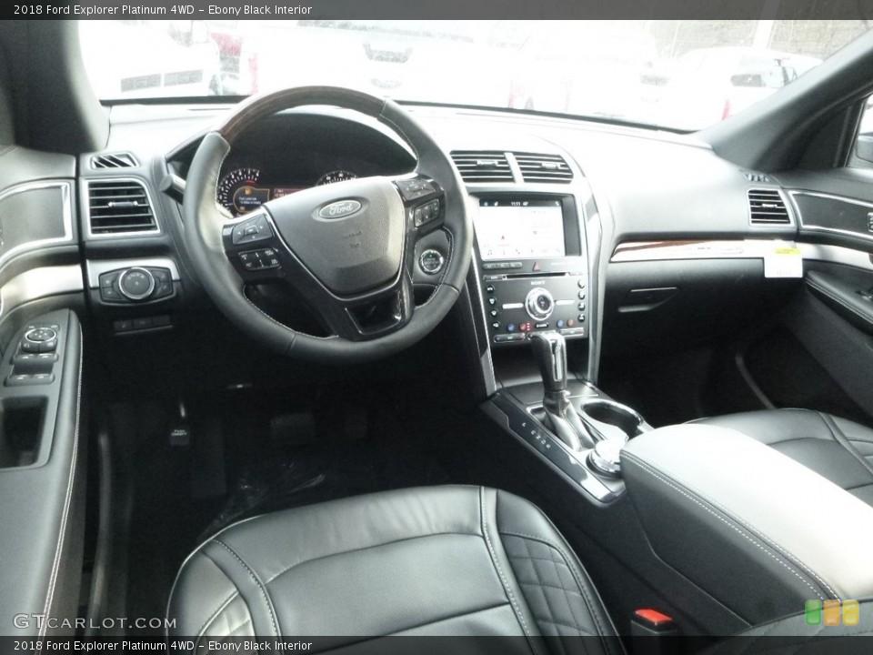 Ebony Black Interior Dashboard for the 2018 Ford Explorer Platinum 4WD #124486283