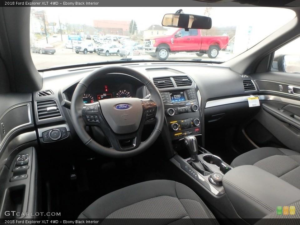 Ebony Black Interior Photo for the 2018 Ford Explorer XLT 4WD #124516461