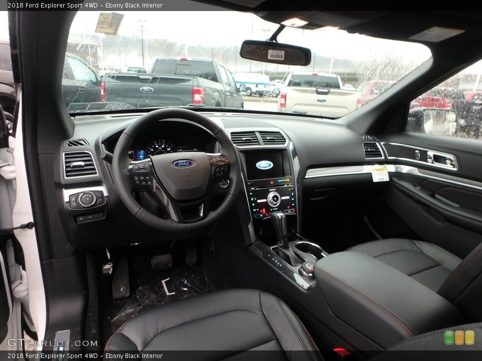 Ebony Black Interior Photo for the 2018 Ford Explorer Sport 4WD #124873785
