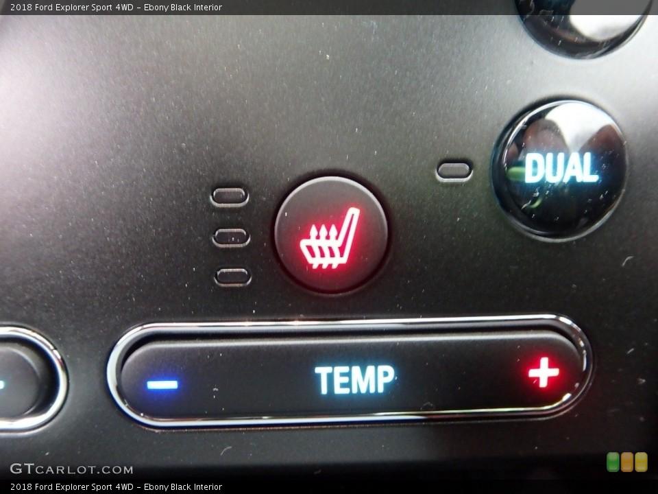 Ebony Black Interior Controls for the 2018 Ford Explorer Sport 4WD #124873923