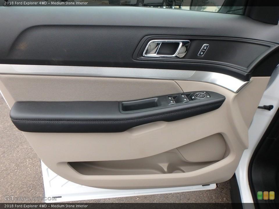 Medium Stone Interior Door Panel for the 2018 Ford Explorer 4WD #125439760