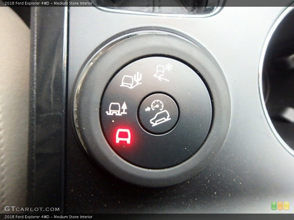 Medium Stone Interior Controls for the 2018 Ford Explorer 4WD #125439885