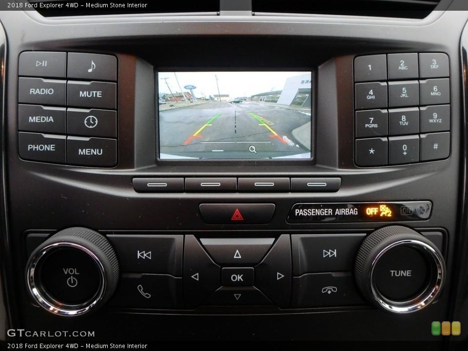 Medium Stone Interior Controls for the 2018 Ford Explorer 4WD #125439955