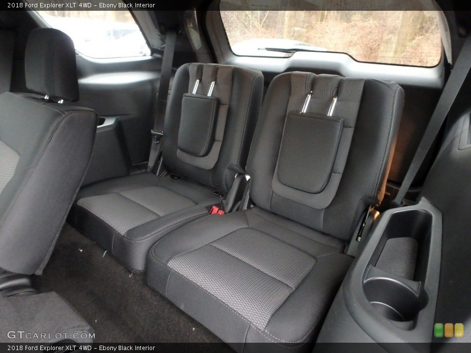 Ebony Black Interior Rear Seat for the 2018 Ford Explorer XLT 4WD #125625627