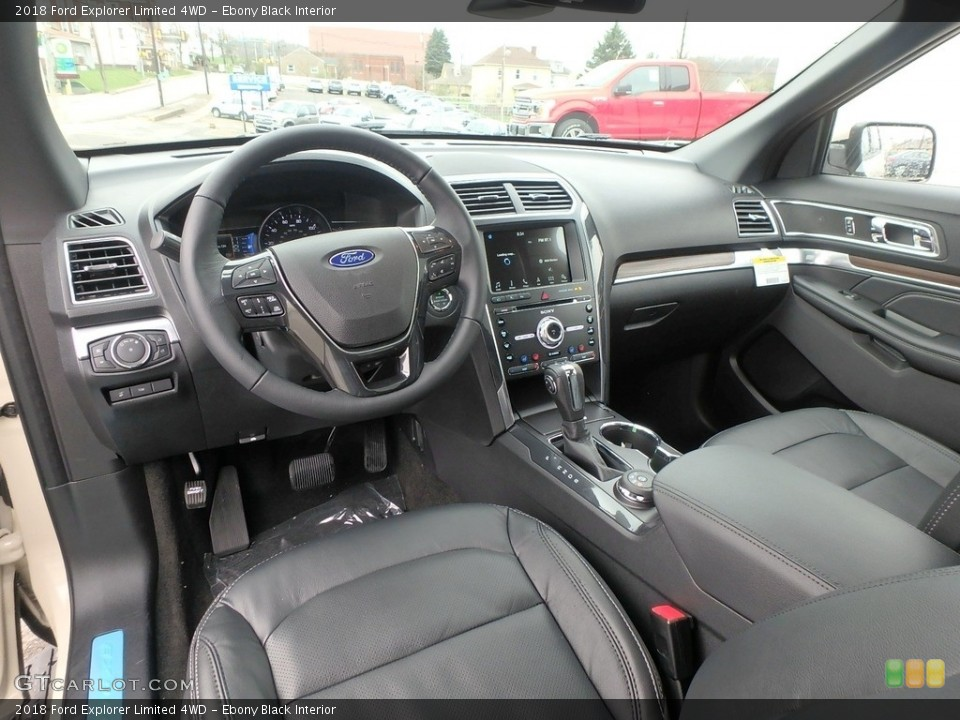 Ebony Black Interior Photo for the 2018 Ford Explorer Limited 4WD #126815234