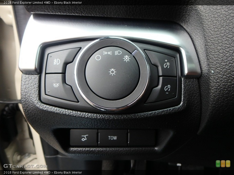 Ebony Black Interior Controls for the 2018 Ford Explorer Limited 4WD #126815453