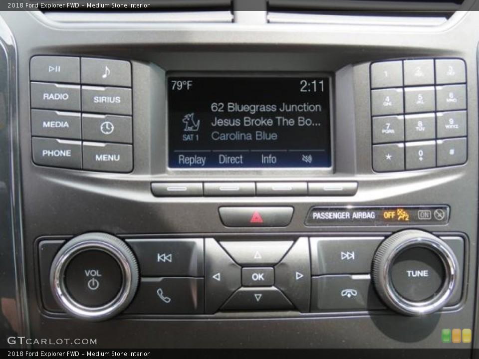 Medium Stone Interior Controls for the 2018 Ford Explorer FWD #127381097