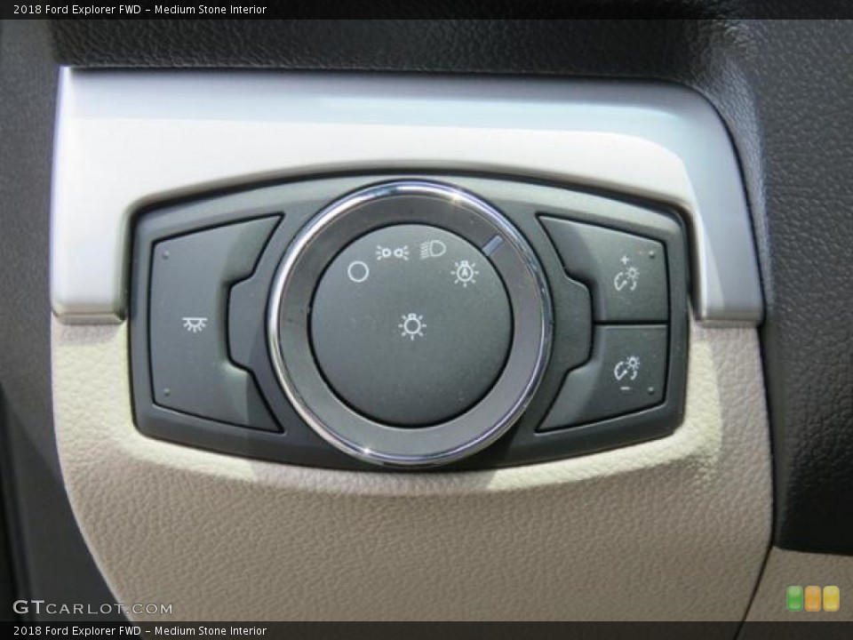 Medium Stone Interior Controls for the 2018 Ford Explorer FWD #127381256