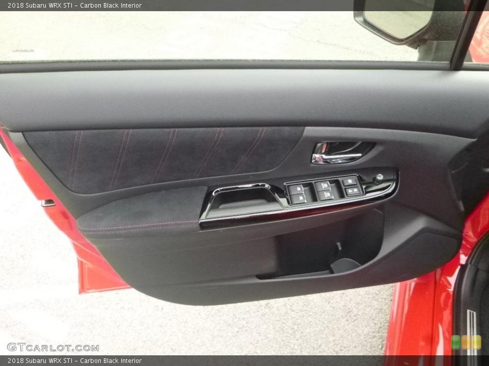 Carbon Black Interior Door Panel for the 2018 Subaru WRX STI #127554564