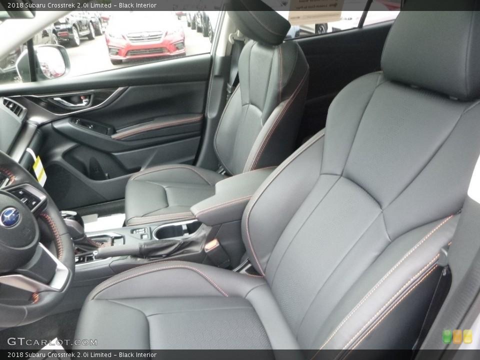 Black Interior Front Seat for the 2018 Subaru Crosstrek 2.0i Limited #127802060