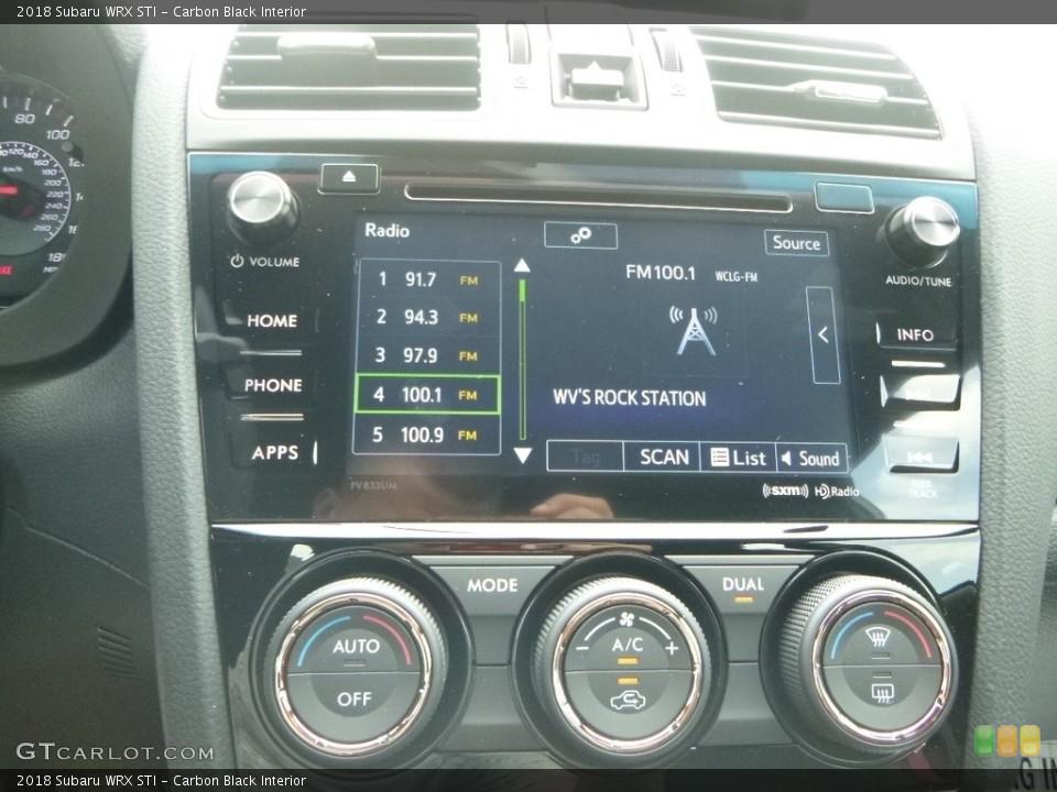 Carbon Black Interior Controls for the 2018 Subaru WRX STI #127915366