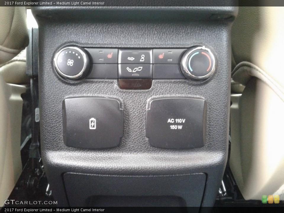 Medium Light Camel Interior Controls for the 2017 Ford Explorer Limited #128584195