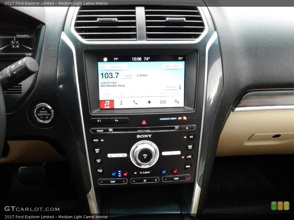 Medium Light Camel Interior Controls for the 2017 Ford Explorer Limited #128584549