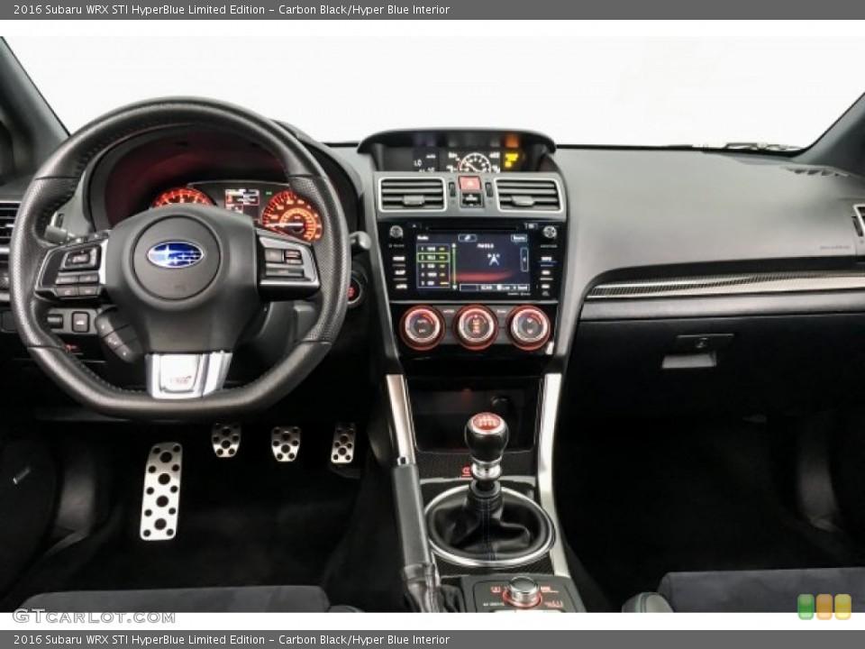 Carbon Black/Hyper Blue Interior Dashboard for the 2016 Subaru WRX STI HyperBlue Limited Edition #128684793