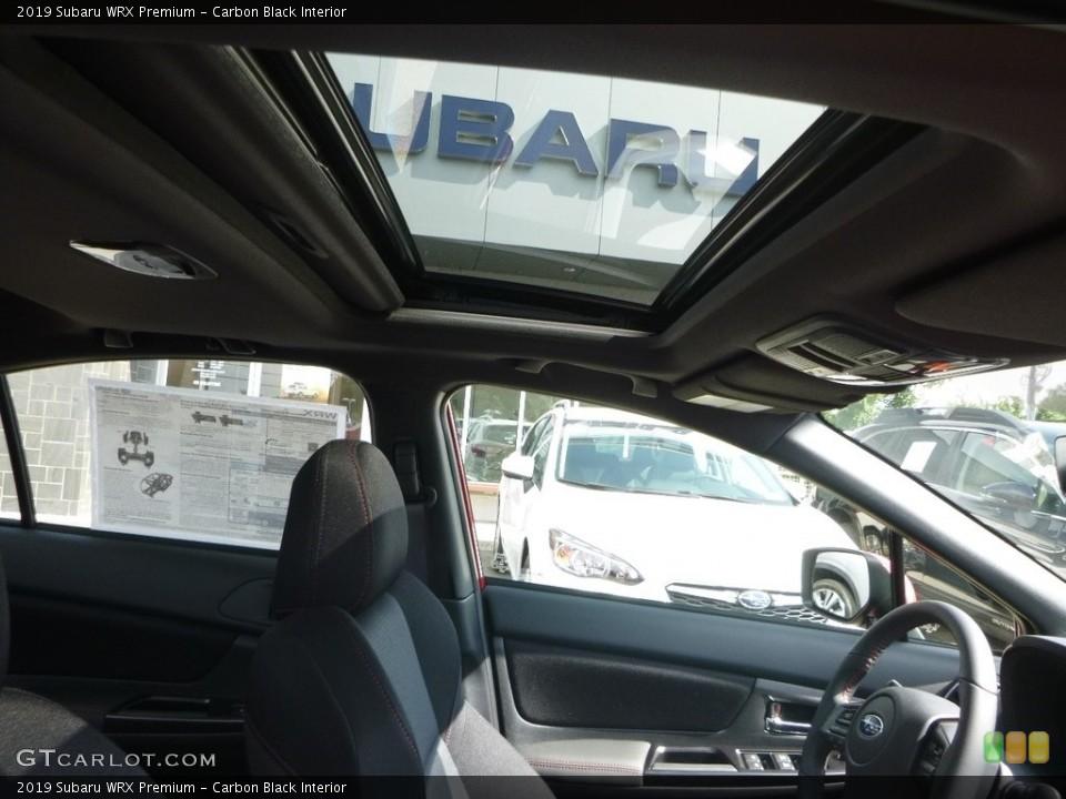 Carbon Black Interior Sunroof for the 2019 Subaru WRX Premium #128702308