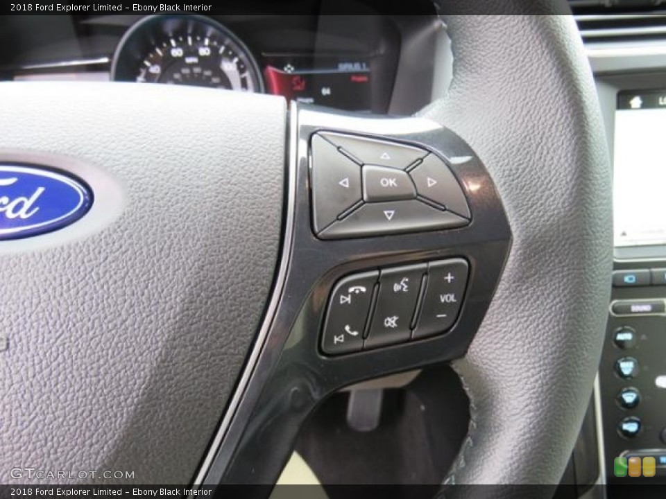 Ebony Black Interior Steering Wheel for the 2018 Ford Explorer Limited #128980090
