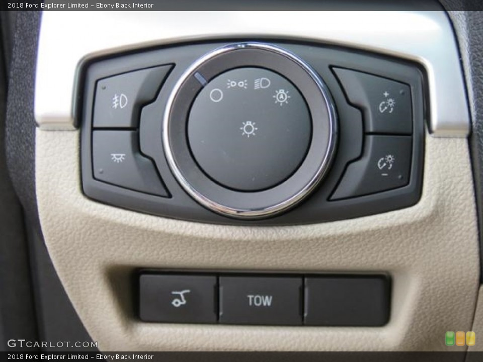 Ebony Black Interior Controls for the 2018 Ford Explorer Limited #128980156