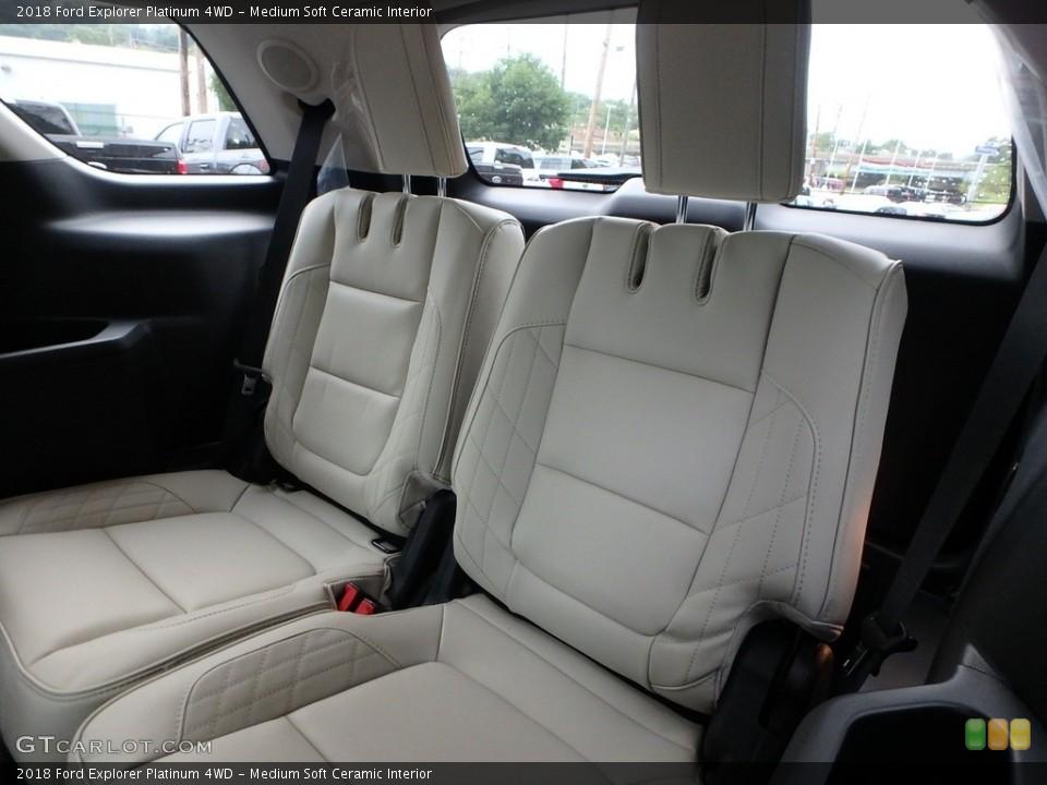 Medium Soft Ceramic Interior Rear Seat for the 2018 Ford Explorer Platinum 4WD #129266865