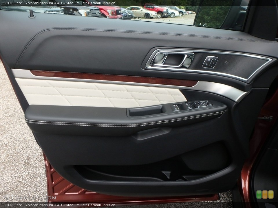 Medium Soft Ceramic Interior Door Panel for the 2018 Ford Explorer Platinum 4WD #129266913