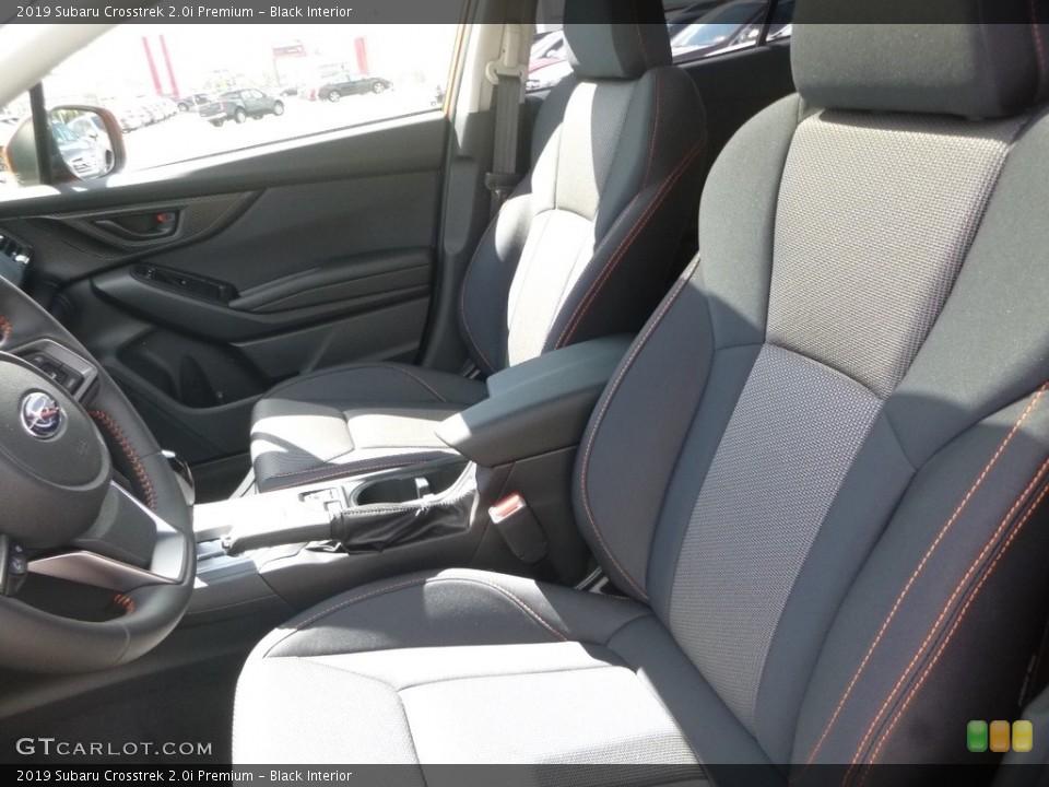 Black Interior Front Seat for the 2019 Subaru Crosstrek 2.0i Premium #129443435