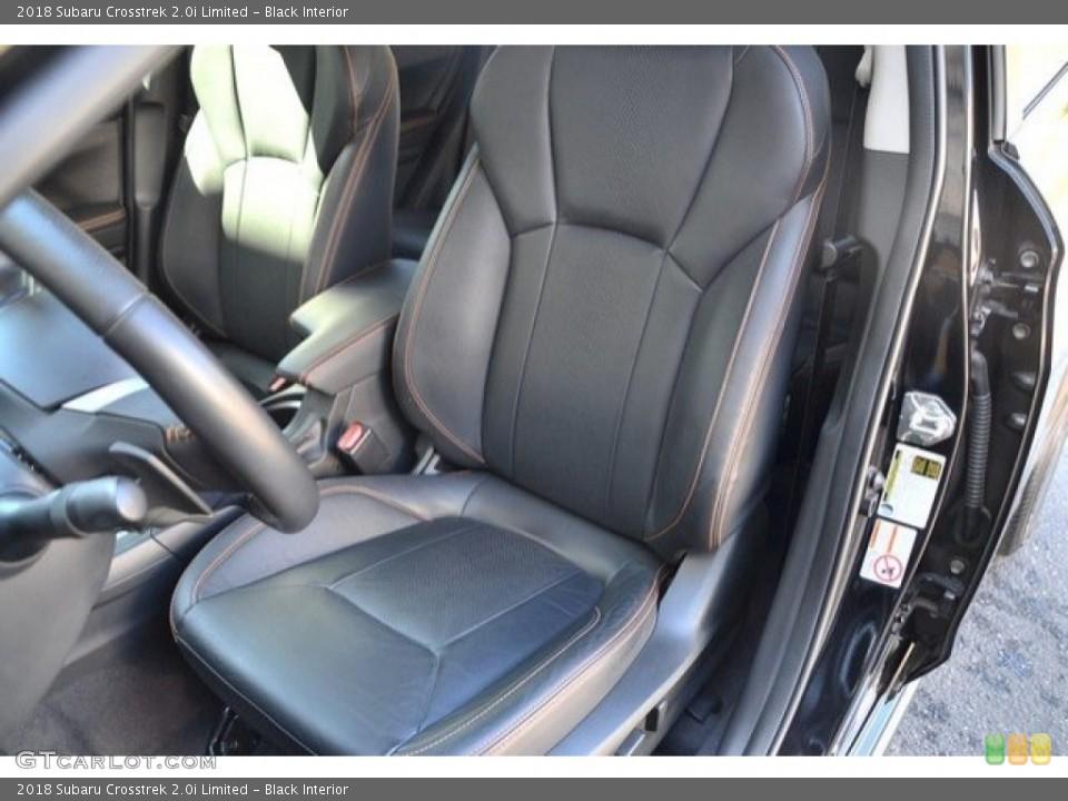 Black 2018 Subaru Crosstrek Interiors