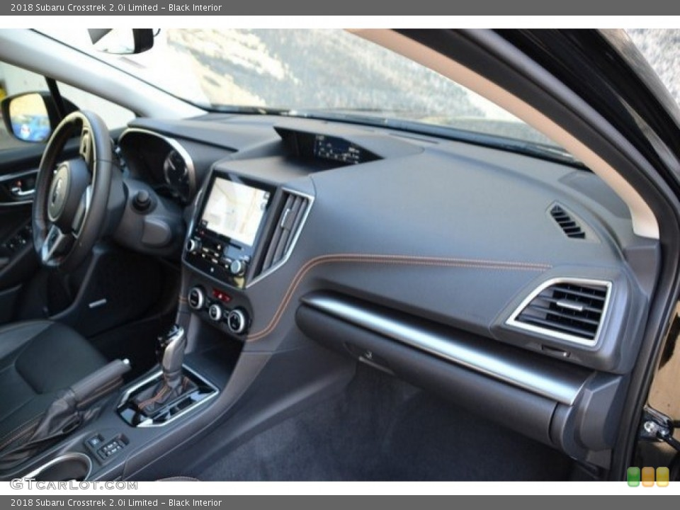 Black Interior Dashboard for the 2018 Subaru Crosstrek 2.0i Limited #129573801