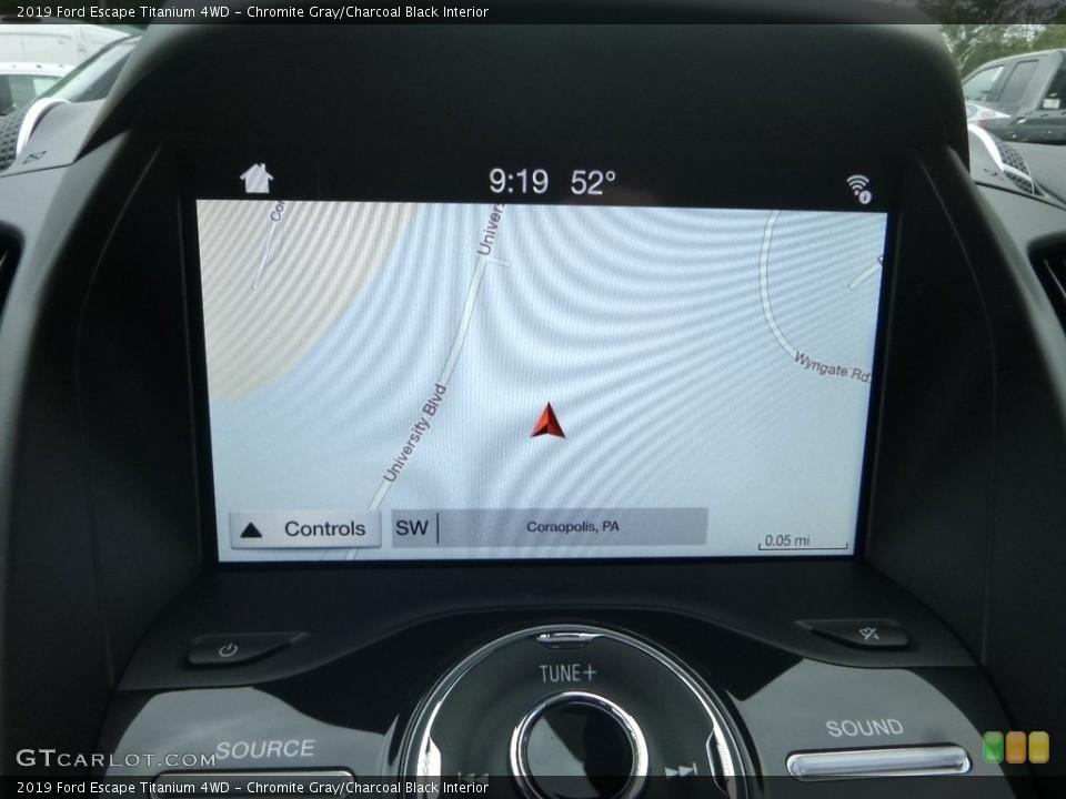 Chromite Gray/Charcoal Black Interior Navigation for the 2019 Ford Escape Titanium 4WD #130022635