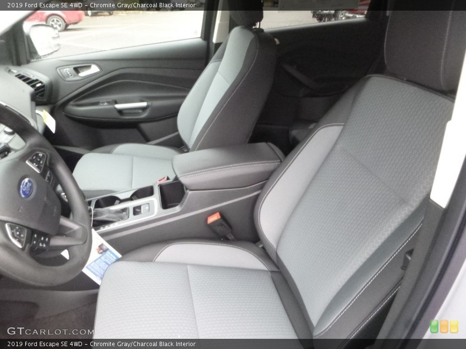 Chromite Gray/Charcoal Black Interior Front Seat for the 2019 Ford Escape SE 4WD #130022902