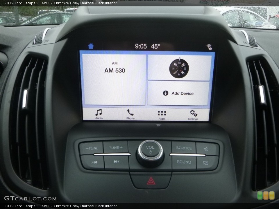 Chromite Gray/Charcoal Black Interior Controls for the 2019 Ford Escape SE 4WD #130152885