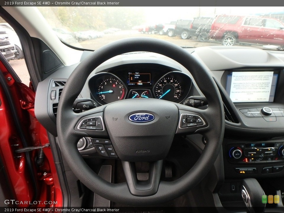 Chromite Gray/Charcoal Black Interior Steering Wheel for the 2019 Ford Escape SE 4WD #130222975