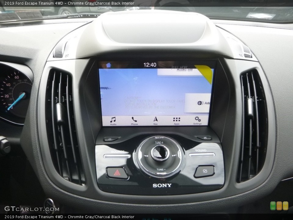Chromite Gray/Charcoal Black Interior Controls for the 2019 Ford Escape Titanium 4WD #130284383