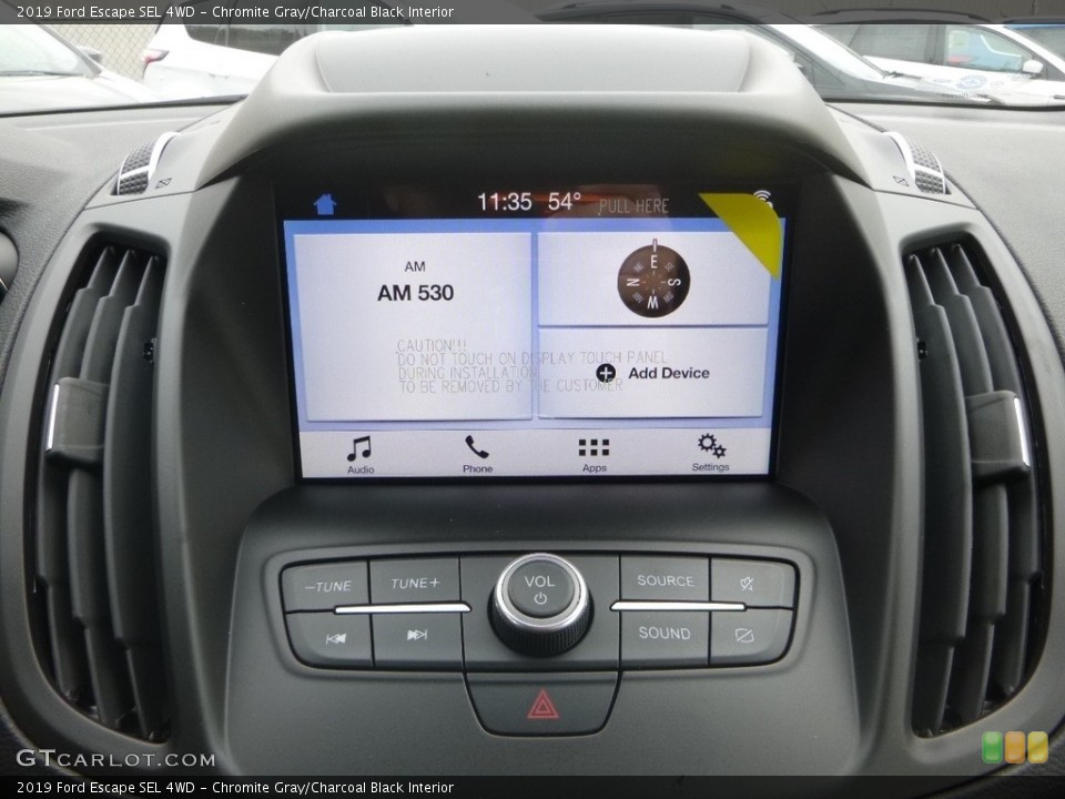 Chromite Gray/Charcoal Black Interior Controls for the 2019 Ford Escape SEL 4WD #130284713