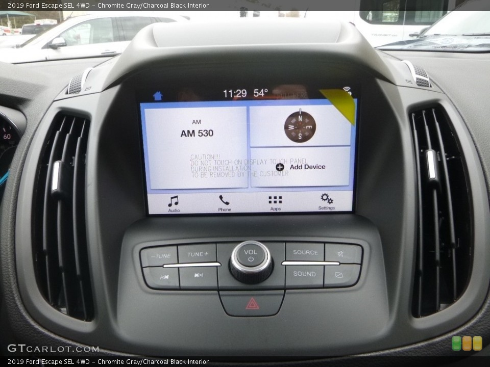 Chromite Gray/Charcoal Black Interior Controls for the 2019 Ford Escape SEL 4WD #130285073