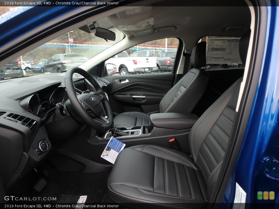 Chromite Gray/Charcoal Black Interior Front Seat for the 2019 Ford Escape SEL 4WD #130426913