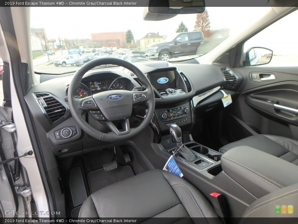 Chromite Gray/Charcoal Black Interior Photo for the 2019 Ford Escape Titanium 4WD #130433434