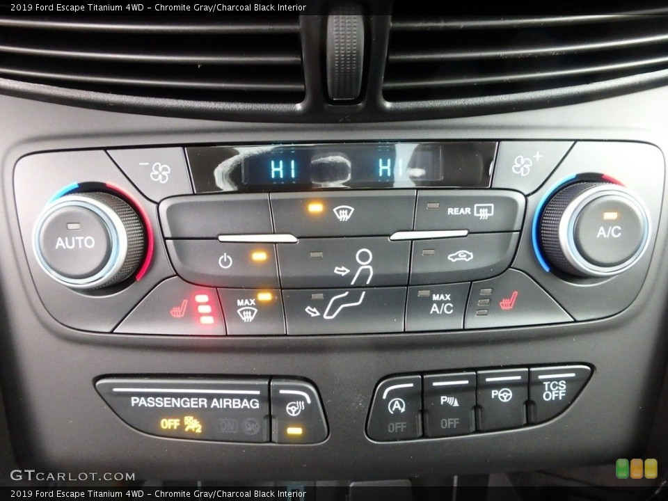 Chromite Gray/Charcoal Black Interior Controls for the 2019 Ford Escape Titanium 4WD #130433650