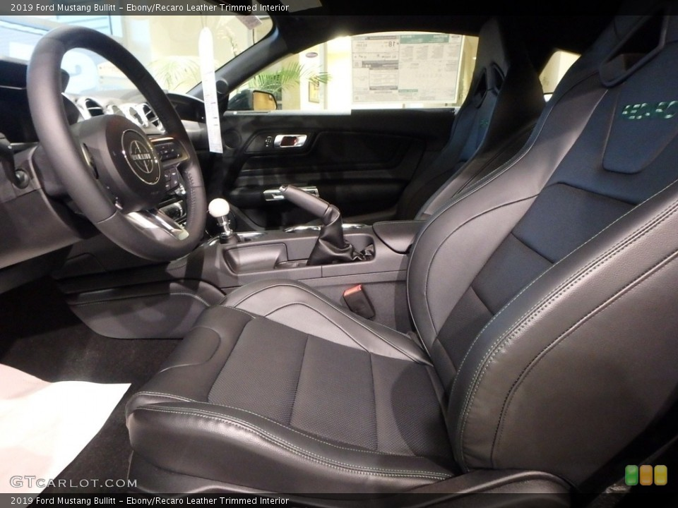 Ebony/Recaro Leather Trimmed 2019 Ford Mustang Interiors