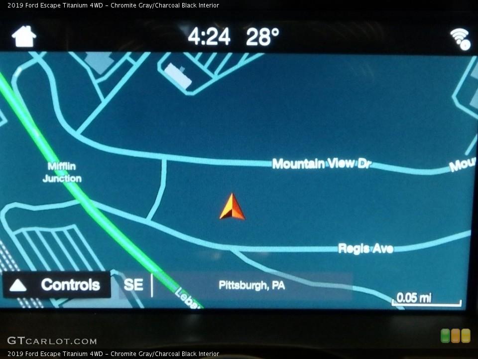 Chromite Gray/Charcoal Black Interior Navigation for the 2019 Ford Escape Titanium 4WD #130624227