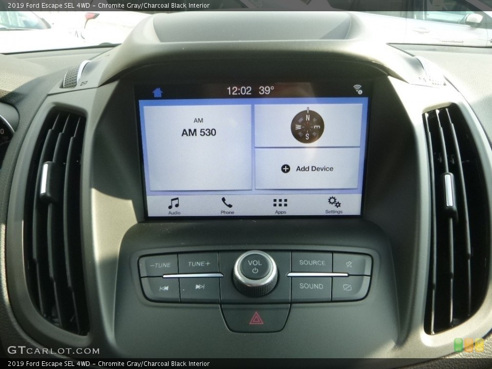 Chromite Gray/Charcoal Black Interior Controls for the 2019 Ford Escape SEL 4WD #130988381