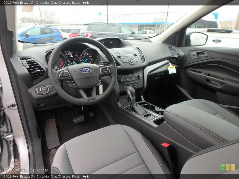 Chromite Gray/Charcoal Black Interior Photo for the 2019 Ford Escape S #131298129