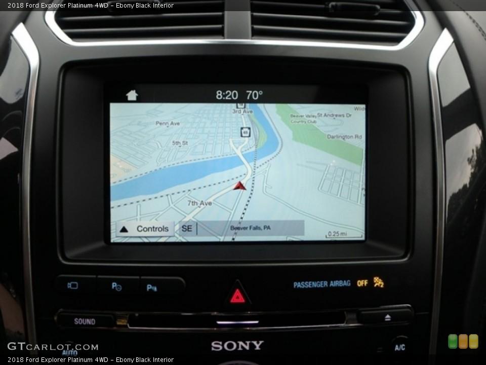 Ebony Black Interior Navigation for the 2018 Ford Explorer Platinum 4WD #131358773