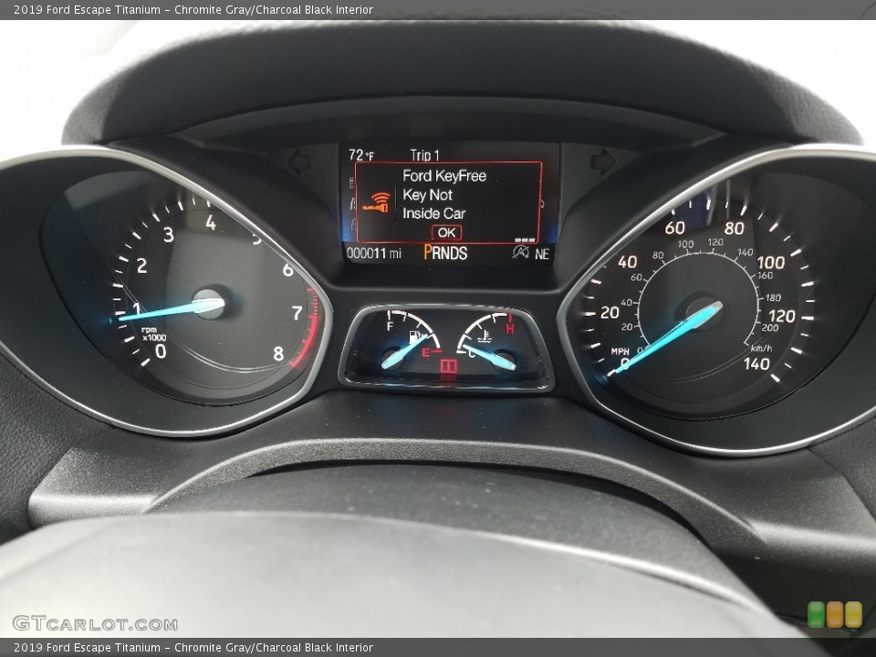 Chromite Gray/Charcoal Black Interior Gauges for the 2019 Ford Escape Titanium #132339968