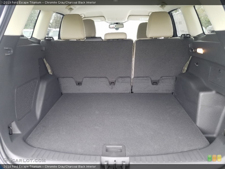 Chromite Gray/Charcoal Black Interior Trunk for the 2019 Ford Escape Titanium #132340031